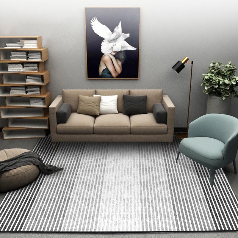 Nordique Moderne Abstrait Noir Blanc Géométrique Tapis Pour Salon Tapis  Chambre Chambre Enfants Étude De La Chambre Doux Tapis Tapis De Sol