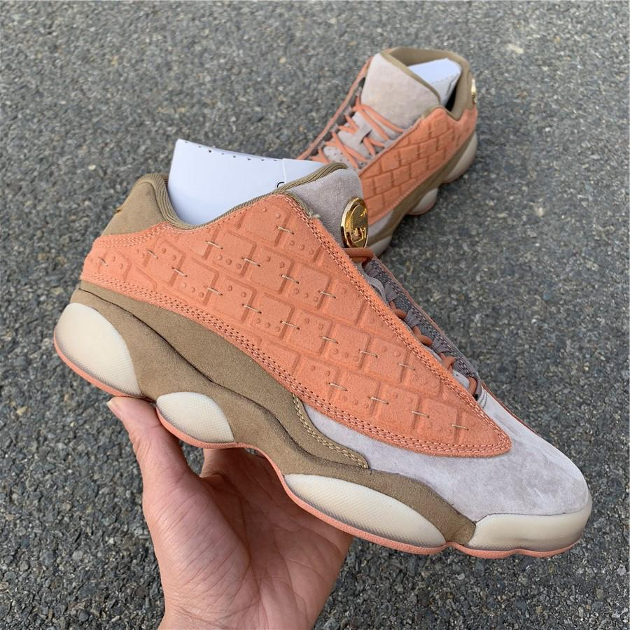 more photos beacf 6e79f New 2019 CLOT X 13s Low Terracotta Orange Basketball Shoes New Released  Mens Women Running Shoes With Box