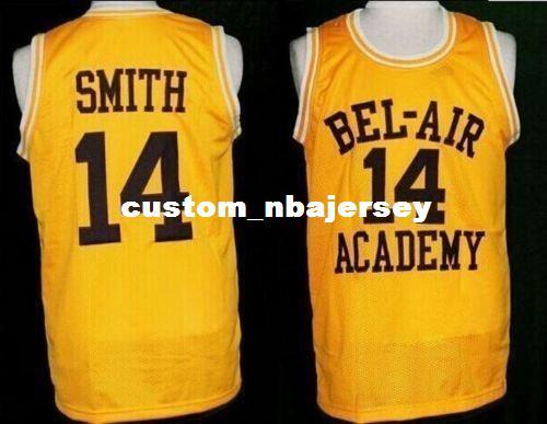 Cheap Custom The Fresh Prince Of Bel Air Jersey  14 Will Smith Carlton  Banks Academy Yellow Stitch Customize Any Number Name MEN WOMEN YOUTH UK  2019 From ... 471f0f0a0