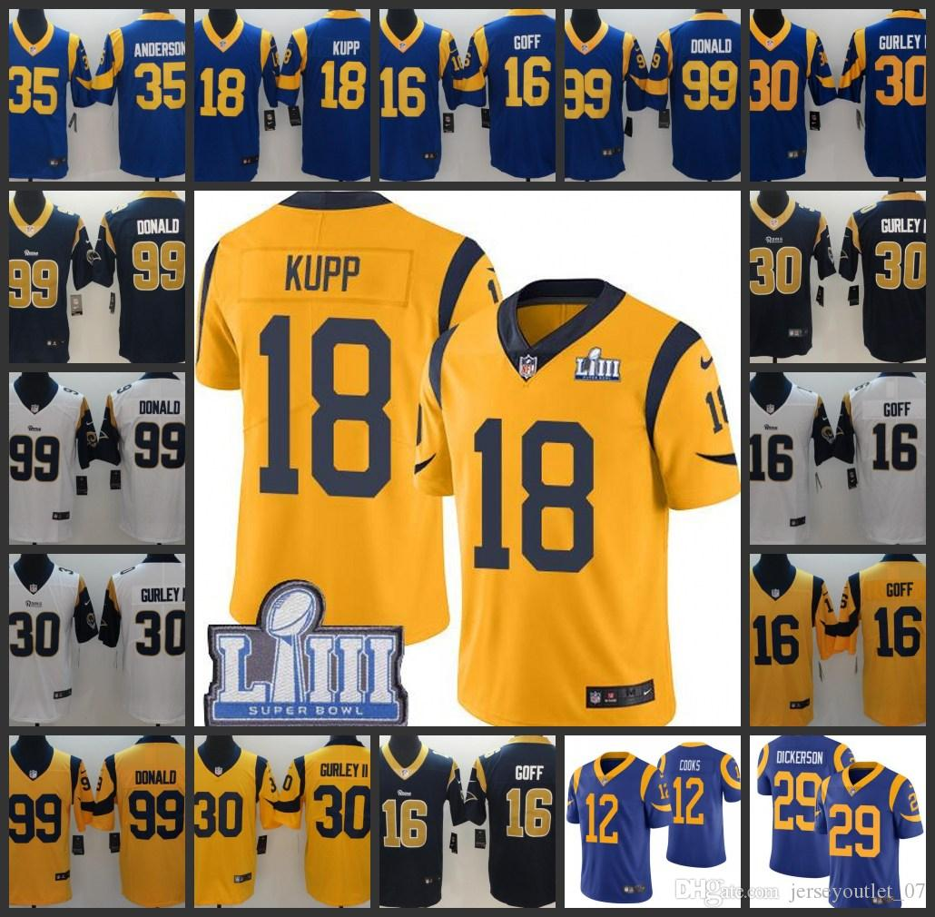 Top 2019 Super Bowl Men Los Angeles Rams Women Limited Jersey #35 C.J.  hot sale