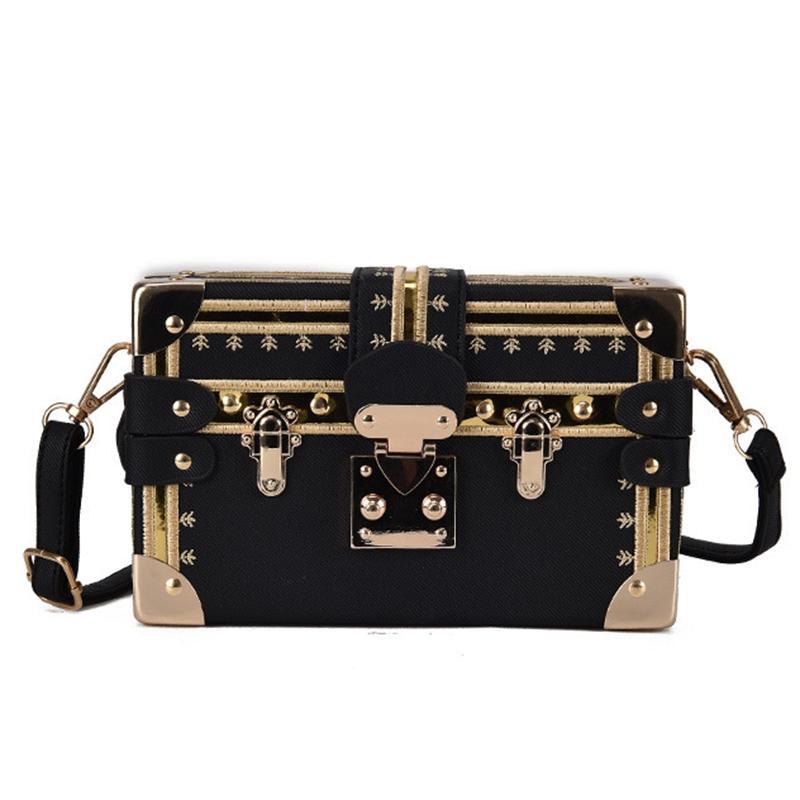 c74cea6693f9 Mini Square Women Bag Rivets Fashion Box Messenger Bags Small Girls  Shoulder Bags ladies hand Brand Designer Crossbody