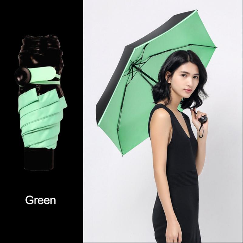 Mini Utile Pocket Umbrella Donne Sunny and Rainy Portable Mini Fashion Ombrelli pieghevoli Sun Parasole Ombrello Rain Women