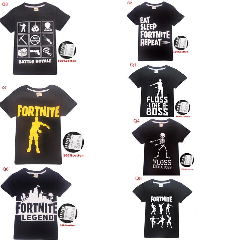 58 Styles Fortnite Kids Teenager Clothes T Shirt Boys Girl Short