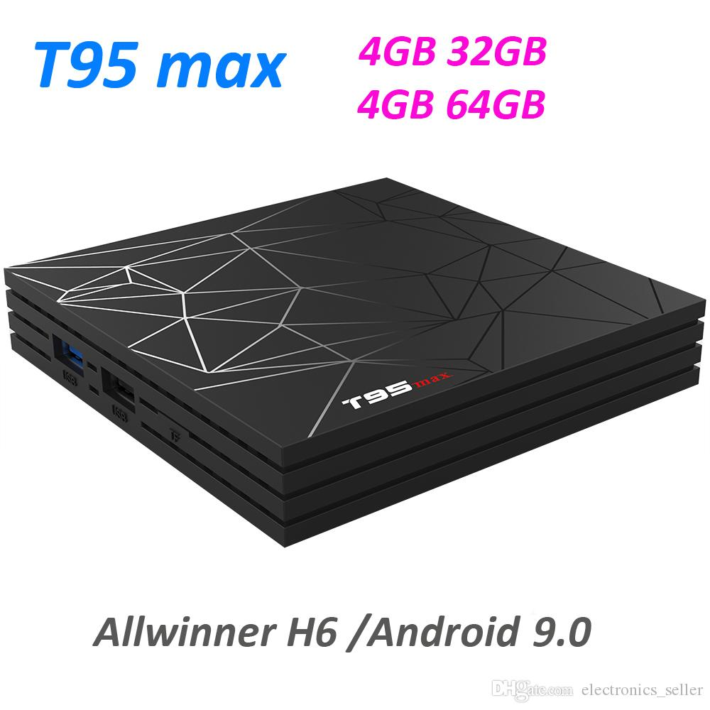 T95 MAX Android TV Box Allwinner H6 4GB 64GB Android 9 0 TV Box Supports  IPTV 3D 6K Media Player