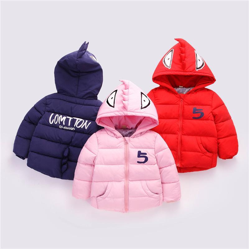 7ddffae30918 Children Fashion Cartoon Outerwear 2018 Winter Warm Thick Down ...