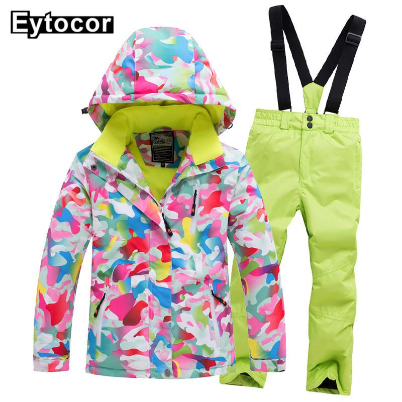 64d3f5011a 2019 EYCOTOR Kids Ski Suit Children Brands Windproof Waterproof Warm Girls  And Boy Snow Set Pants Children Snow Suit Ski Jacket Coats From Masn