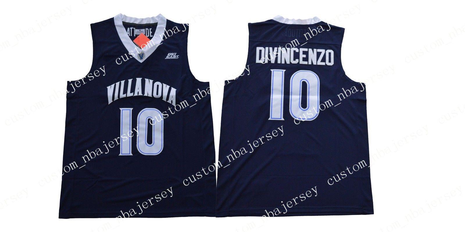b7b6d7638 Cheap Wholesale NEW Season 2018 Donte Divincenzo  10 Villanova Basketball  Jersey Navy Blue White High Quality S XXL Canada 2019 From  Custom nbajersey