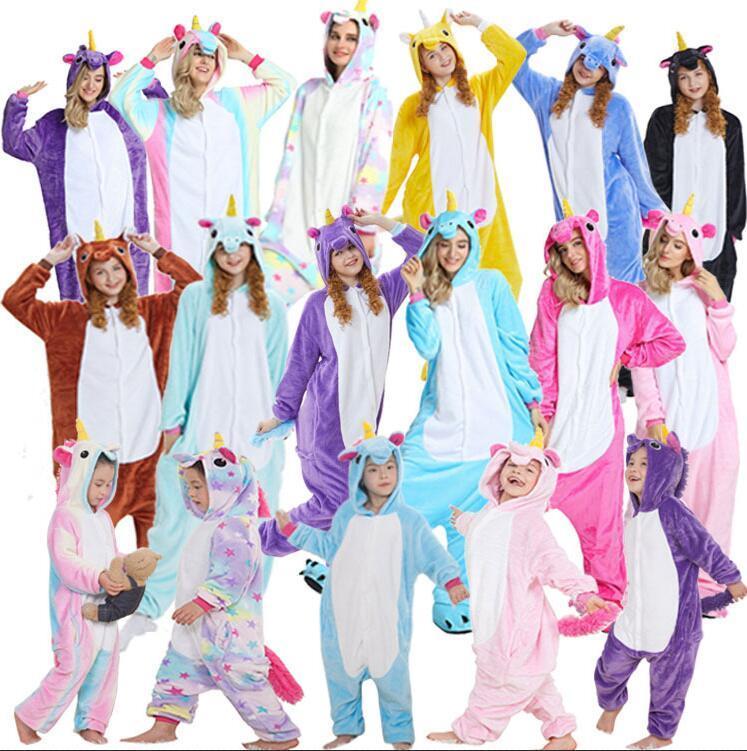 Cute Animal Rainbow Unicorn Kigurumi Pajamas Winter Adult Unicorn Sleepwear  Flannel Hooded Unicornio Women Home Clothing AAA1542 Women Kigurumi Unicorn  ... a3441bfef6f67