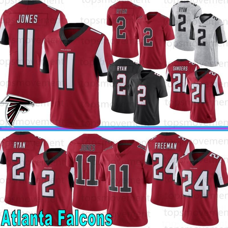 Atlanta 11 Julio Jones Falcon Jerseys 2 Matt Ryan 18 Ridley Jerseys limitada 24 Devonta Freeman 21 Deion Sanders Football Jerseys da 2020