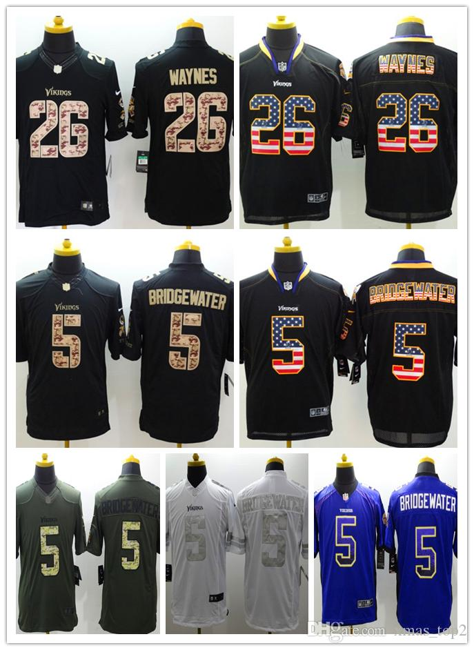 official photos 68caa cac88 New Mens 5 Dan Bailey Jersey Minnesota Vikings Football Jersey 100%  Stitched Embroidery 26 Trae Waynes Color Rush Football Stitching Shirts