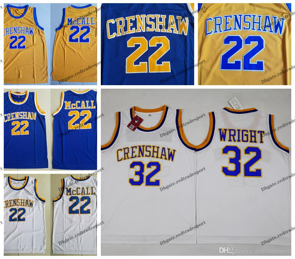 feacbac42505 Mens Love And Basketball Movie 22 Quincy McCall Basketball Jerseys ...