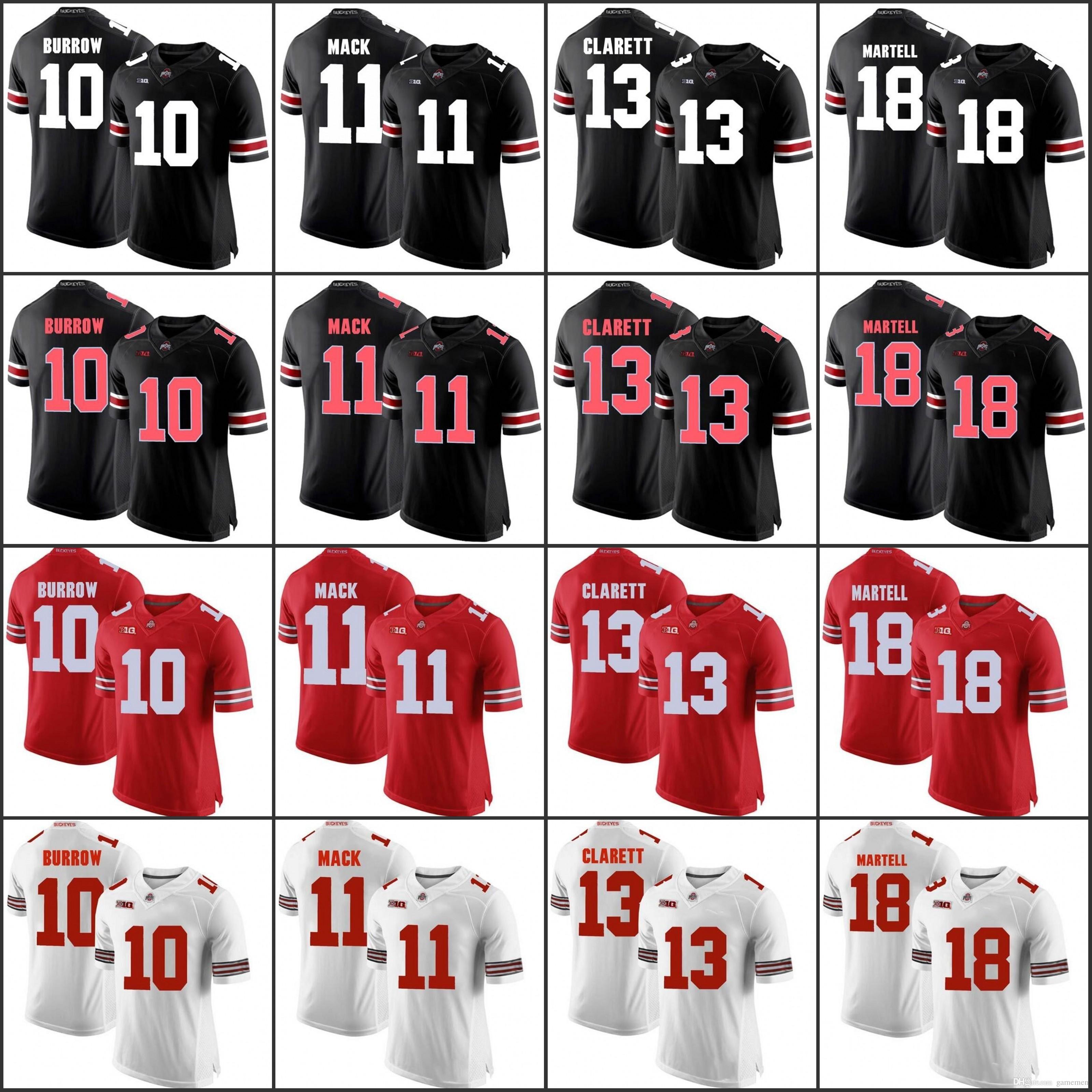 reputable site f9b9b de6a7 Custom OSU Ohio State Buckeyes Football Jersey Justin Fields Dobbins  Haskins Barrett MARTELL CAMPBELL WEBER George Wilson Men Women YOUTH