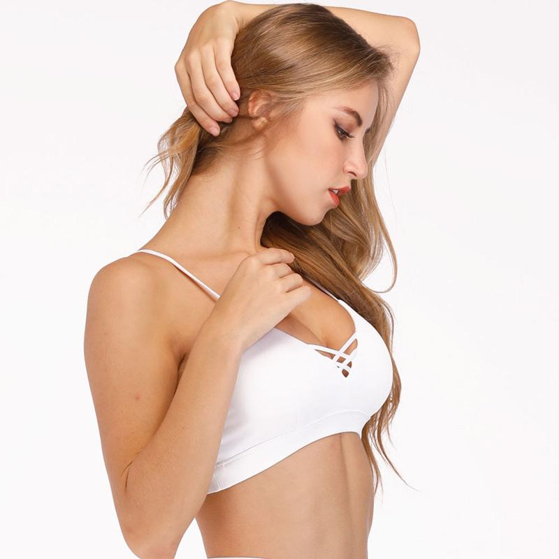 f8c00cffb 2019 New Sports Bra Women White Push Up Yoga Bra Fitness Girl Sports Top  Workout Running Sport Underwear Fitness Tank Top Active Clothing From  Maxluxe