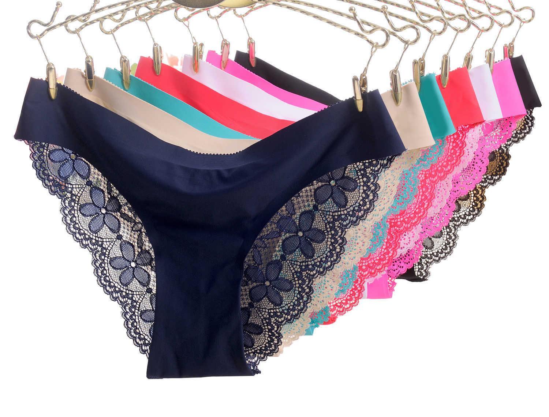 b1c0a2ca2 Compre Lingerie Das Mulheres Sexy Calcinha Sem Costura Rendas Underwear  Mulheres Cuecas Cuecas De Biquíni Calcinha Para As Mulheres Simples E Sexy  De Lin 06 ...