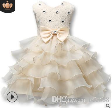 fbf47fa33 Compre Niñas De La Moda Vestido De Princesa De Invierno Vestido Formal Bola Flor  Ropa Para Niños Ropa Para Niños Vestidos De Fiesta A  14.91 Del Bee688 ...
