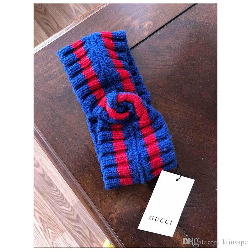 153ffc861c3150 Großhandel 2019 Designer Wolle Kreuz Stirnband Mode Luxus Marke Elastische  Grün Rot Turban Haarband Für Frauen Mädchen Retro Headwraps Geschenke Von  ...