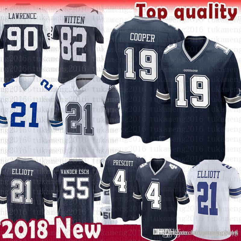quality design ccd96 2b6ee 19 Amari Cooper Dallas Jersey Cowboys 90 DeMarcus Lawrence 4 Dak Prescott  21 Ezekiel Elliott jersey 2018 new Color RUSH