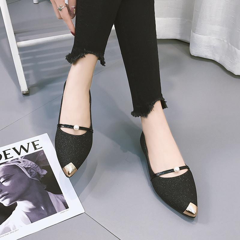 official photos d85fd 21d9a Compre 2019 Moda Otoño Primavera Nuevas Mujeres Para Mujer Zapatos  Mocasines Deslizamiento De Charol Zapatos De Barco Mujer PU Cuero De Cuero  Zapatos ...