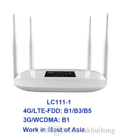 HKHUIBANG LC111-1 Unlocked 300Mbps 4G LTE Wifi Router Hotspot 4 external  antenna CPE Router Support RJ45 Port simcard slot Mobile Router