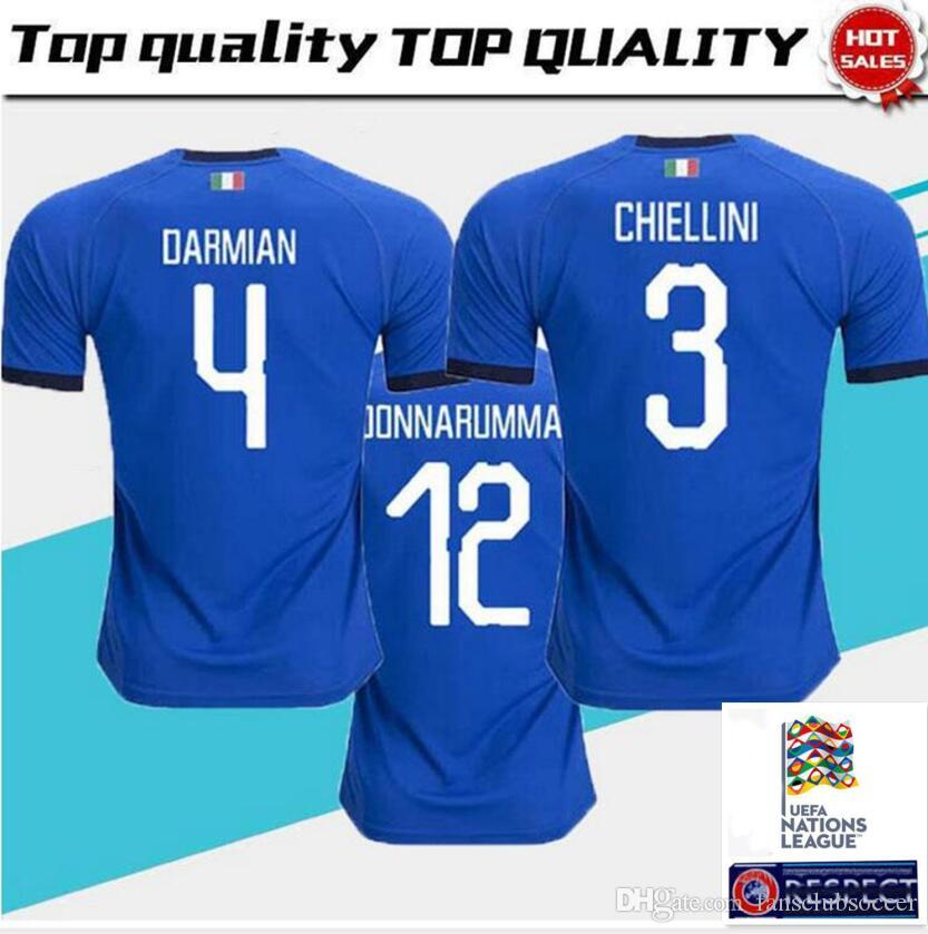 bbfb3626 2019 2019 2020 Italy Soccer Jerseys EL SHAARAWY PIRLO BONUCCI DE ROSSI  INSIGNE VERRATTI CHIELLINI Home Away 18 19 Football Jersey Shirts From  Fansclubsoccer ...