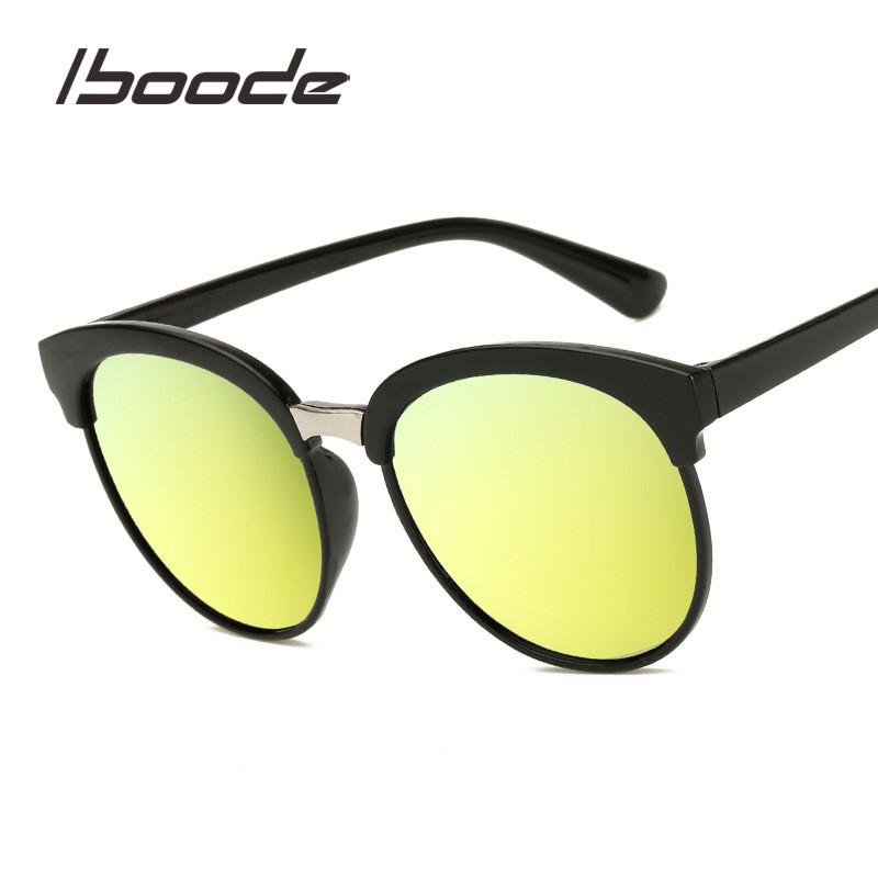 39501a4c889a IBOODE Retro Color Film Sunglasses Men Women Vintage Sun Glasses ...