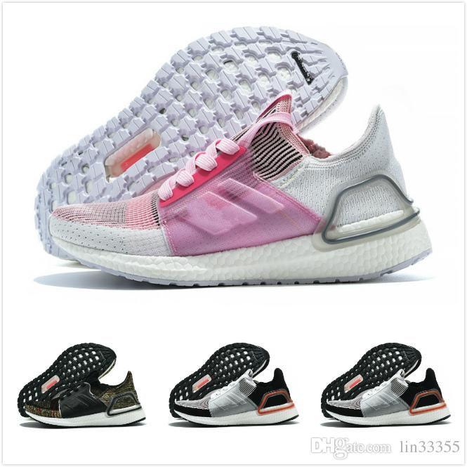 c80611ec51710 2019 Ultra Boost 19 Men Women Running Shoes Ultraboost 5.0 Laser Red ...