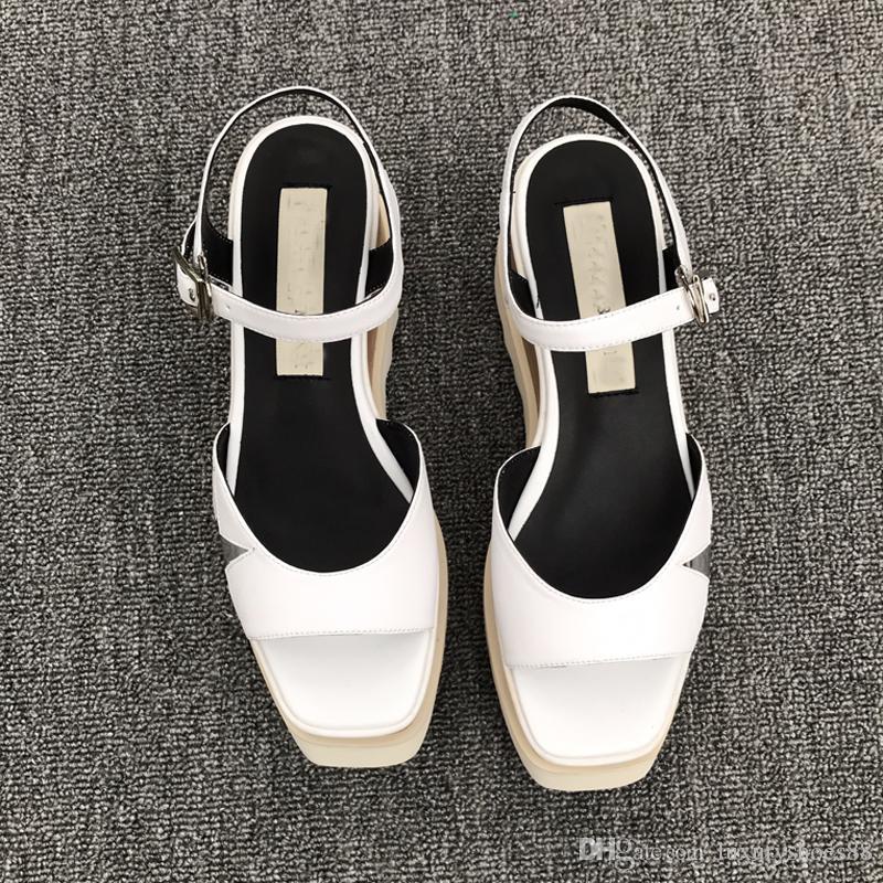 Lujo Gladiador Zapatillas Planas Zapatos Cuero Suave Playa Para De Verano Sandalias Marca Casual Mujer AR5j34L