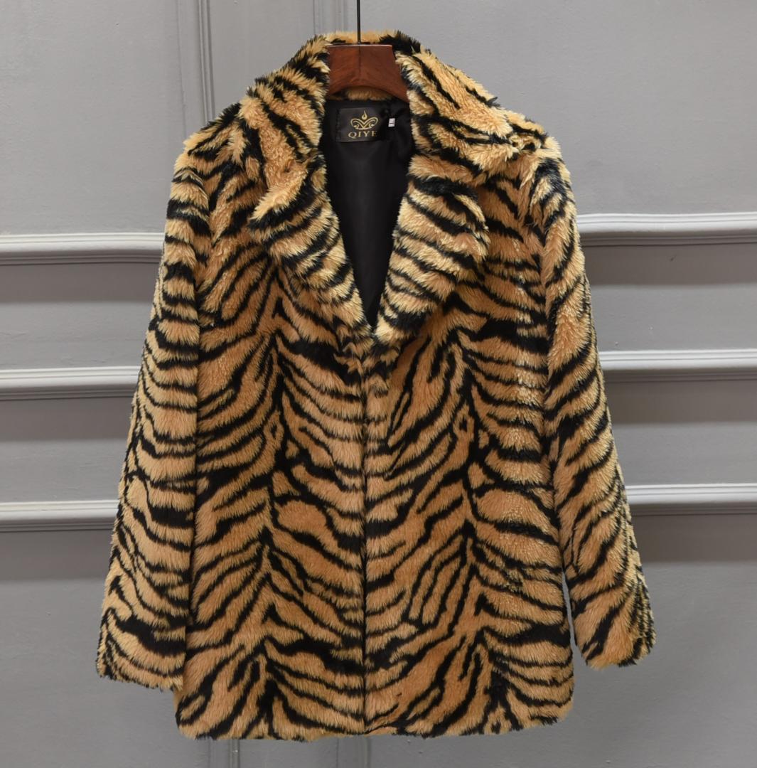 Abrigo de piel de tigre