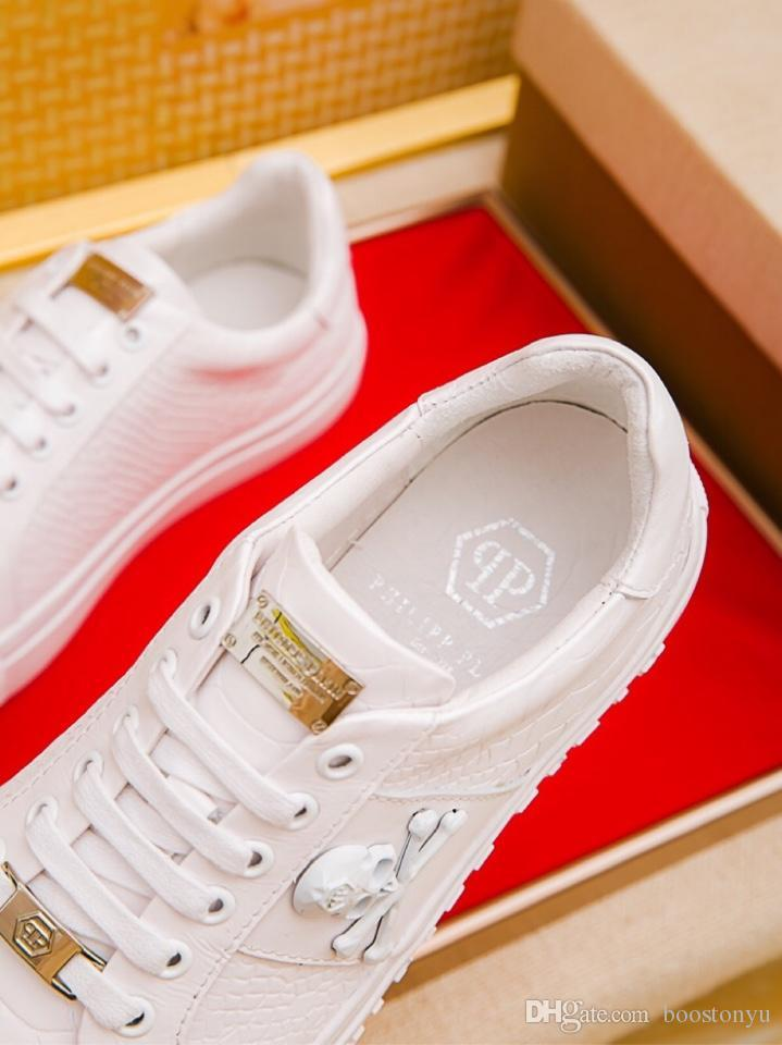 181f75dc4fe5b 2019p custom new men s casual tide shoes, sports wild leather low-top  shoes, original packaging shoe box delivery 38-45