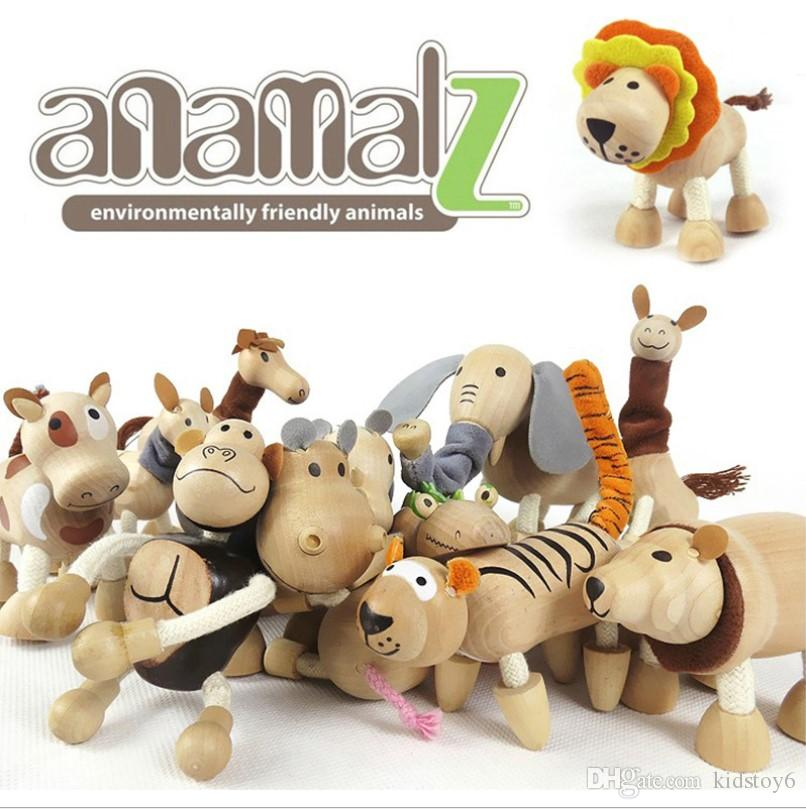 2019 Mini Order Anamalz Maple Wood Moveable Animals Toy Farm