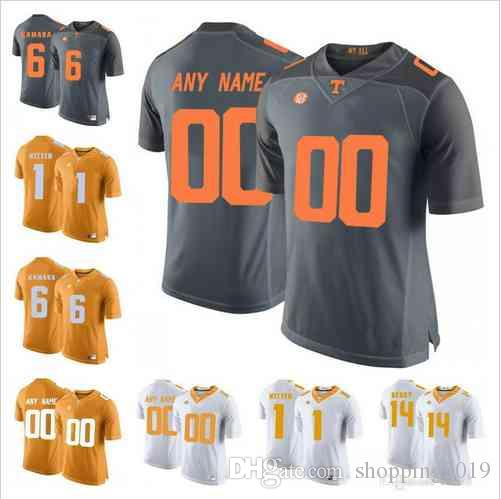 2019 NCAA Custom Tennessee Volunteers 6 Alvin Kamara 16 Peyton ... 0718dc505