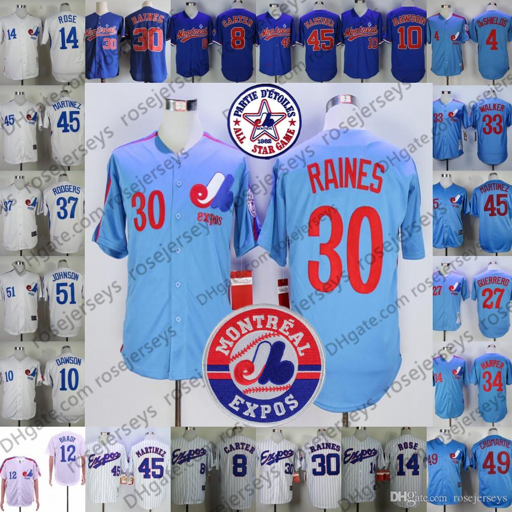huge discount 050c5 5eeb6 coupon code for montreal expos 37 rodgers blue throwback ...
