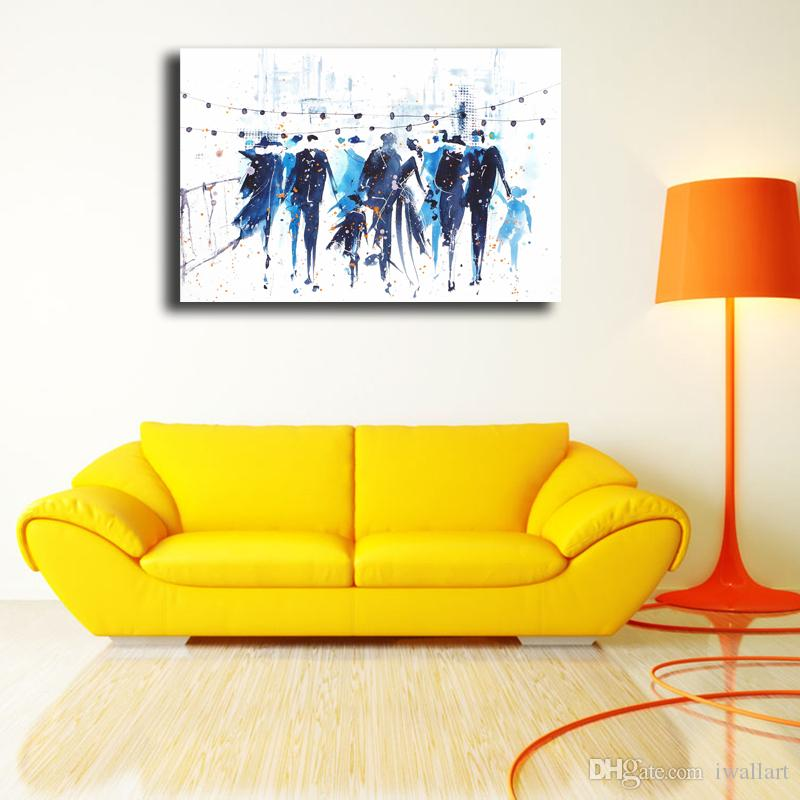 Watercolor People Shadow Canvas Painting Print Bedroom Home Decor Modern Wall Art Oil Painting Poster Salon Pictures