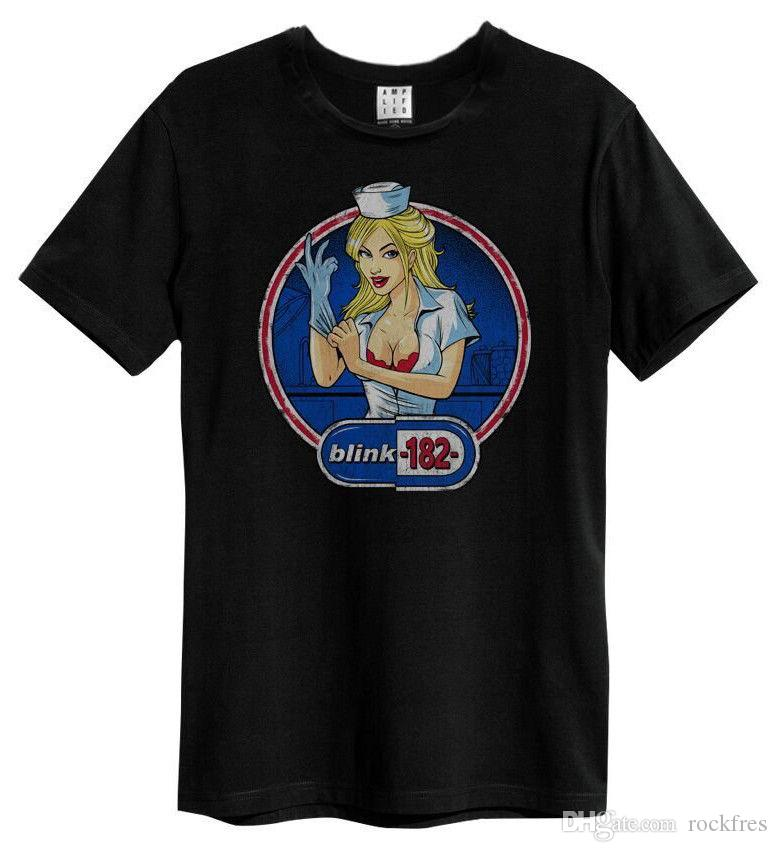 e40cf3618da2e Compre Blink 182 Camiseta Enema Oficial Amplificado Do Estado O Que É Minha  Idade Outra Vez  De Rockfres