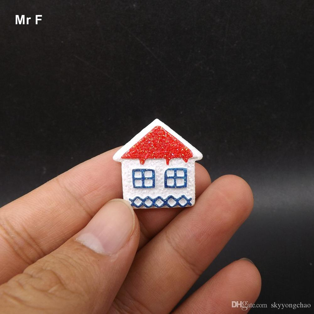 Exquisite Mini Resin Flat Back Snow House Toy Model Christmas Gift