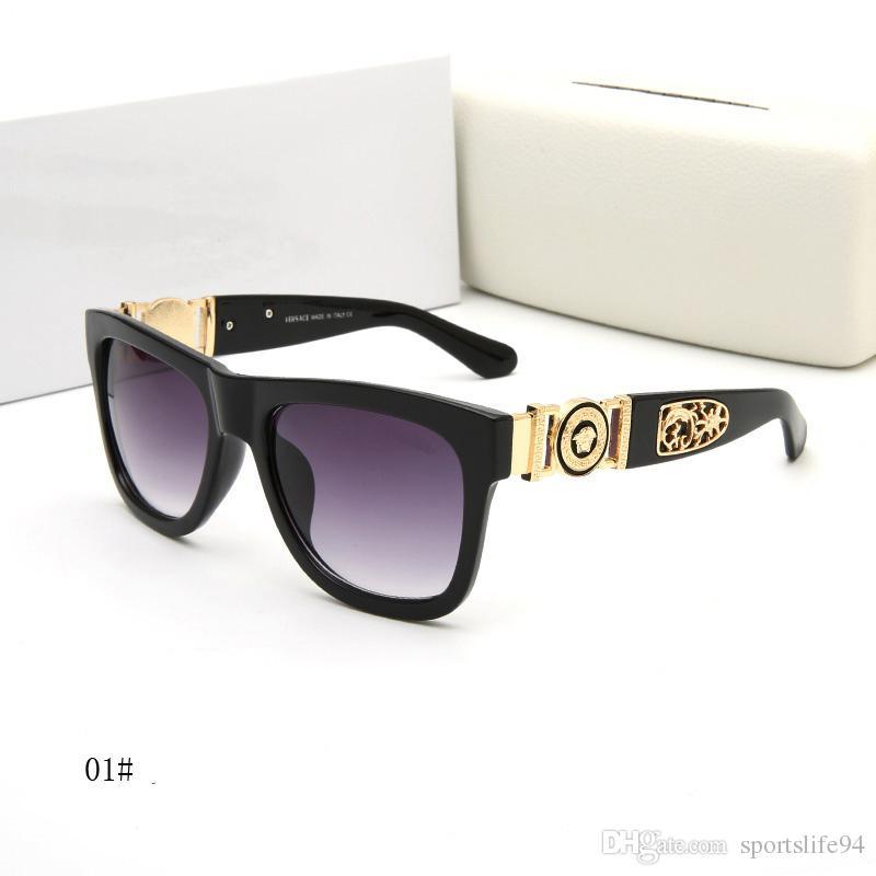 60314ce5c57 With Box Fashion Sunglasses Luxury Designer Sunglasses Vintage Mens Brand  Designer Gold Frame Sun Glasses Women Top Quality SGA09 Tifosi Sunglasses  Cheap ...