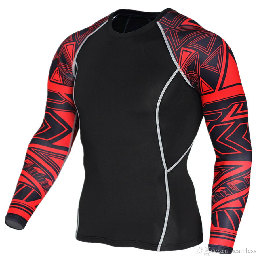 e3ff59dfb6 Compression & Base Layers Mens Compression Under Skin Base Layer Tight Tops  Sport T-Shirts Athletic ...