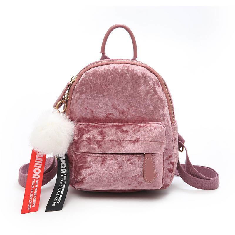 49d612f930c9d Großhandel Gute Qualität Mini Samt Rucksack Tasche Weibliche Nette Rucksäcke  Hohe Qualität Rucksack Für Mädchen Geschenk Frauen Kleine Rucksack Taschen  Von ...