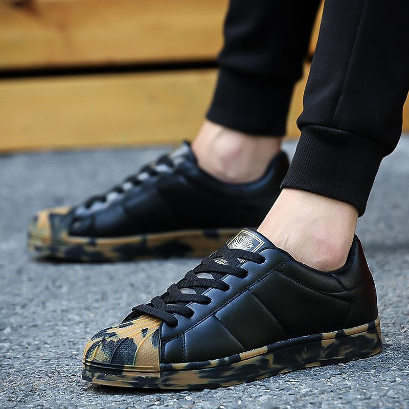 ex 2019 New Spring and fall Men Casual Shoes superstar Flat Shoes chaussure homme Korean Breathable Air Mesh Men Shoes Zapatos Hombre