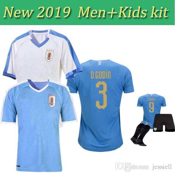 6f2bb059734 2019 2019 Copa America Uruguay Soccer Jersey 19 20 Home 9 L.Suarez 21  E.Cavani Soccer Shirt Away National Team Football Uniforms Kids From  Jessiell