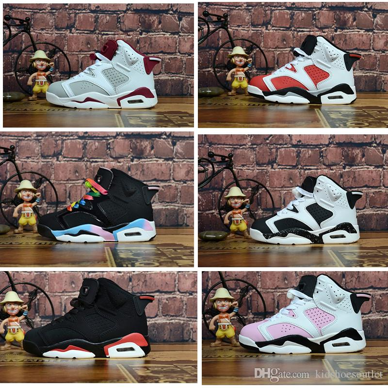 7211616de6d 6s Gatorade BT Alternate Toddler Kids Basketball Shoes black infared Hare  Boy's Children's Athletic Sneakers Running Shoes(Little/Big Kids)