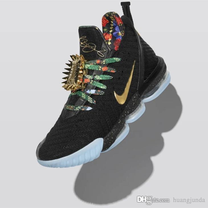 huge discount 2a08a 68634 Mens lebron 16 basketball shoes Gold Black White Throne Lightyear Promise  Superbron blue Red MVP Grey kids lebrons sneakers tennis with box