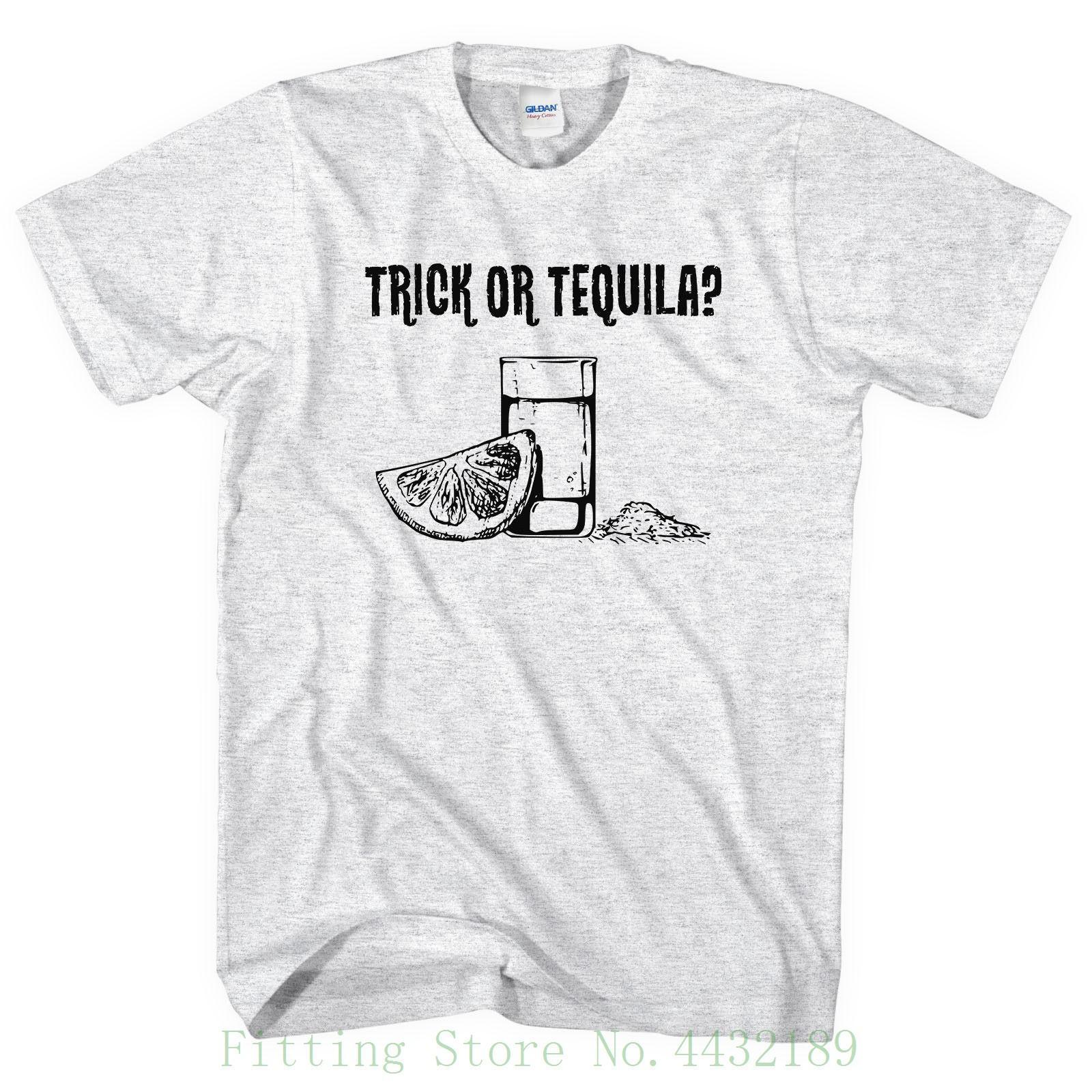 c64874a72 Trick Or Tequila T Shirt Halloween Tshirt Men Women Party Treat Drinking  L118 Tops Tees Men 100% Cotton One Tee A Day Random Graphic Tees From  Yubin09, ...