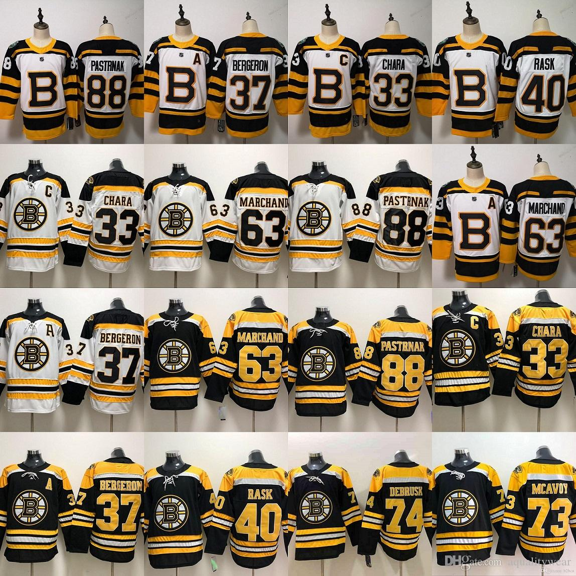 finest selection 926cf fb4b7 2019 Boston Bruins Charlie Mcavoy hockey Jersey Jake DeBrusk Zdeno Chara  Patrice Brad Marchand Cam Neely David Pastrnak Winter Classic