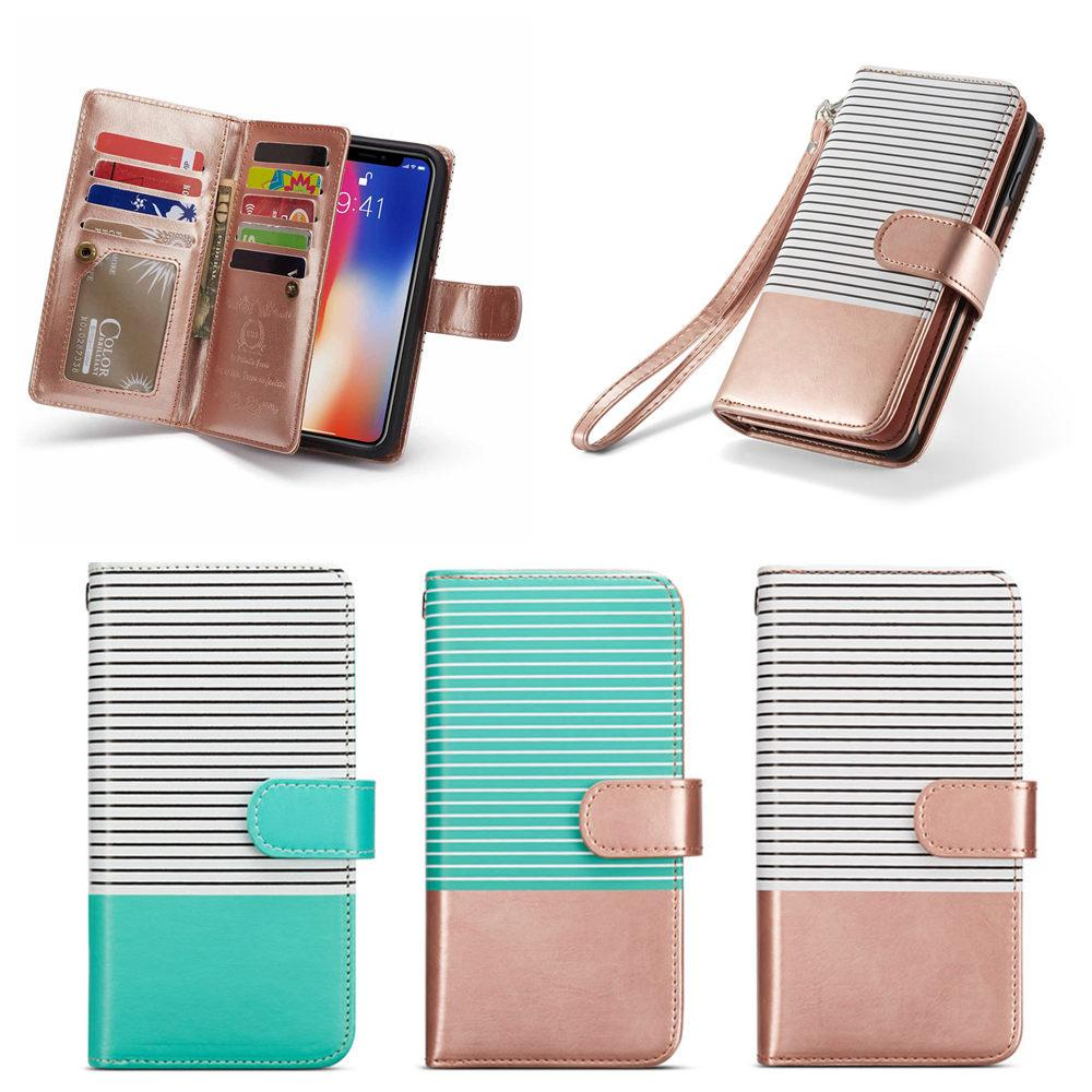 f01fac5cc36 PU Leather Flip Case With Card Slots And Removable Slim Back ...