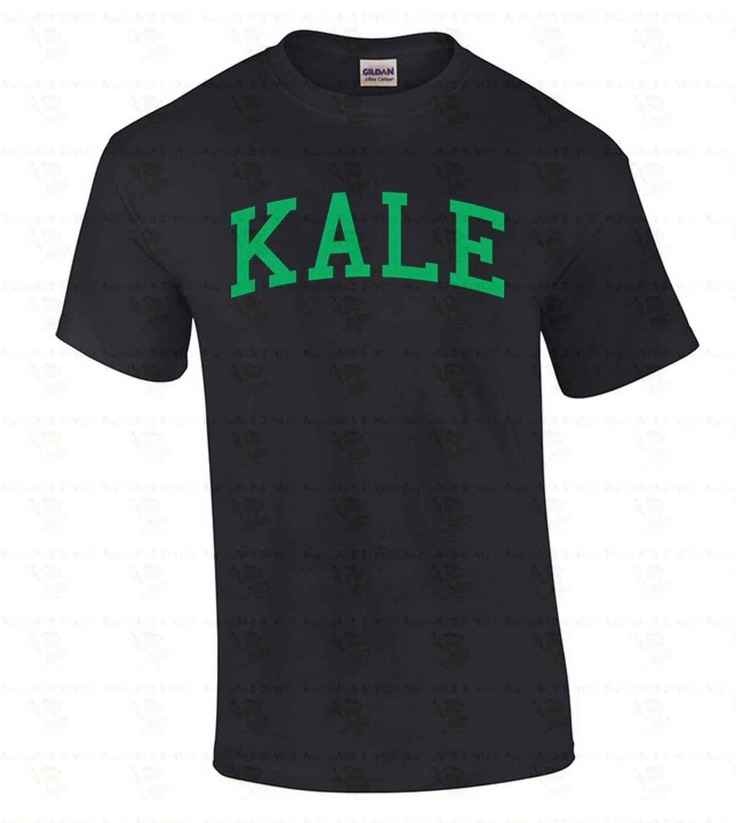 KALE MenS T SHIRT Vegan Organic GREEN Logo Birthday Gift Vegetarian Tee Shirt Comfortable Fabric Street Style Men Worlds Funniest Shirts Cool
