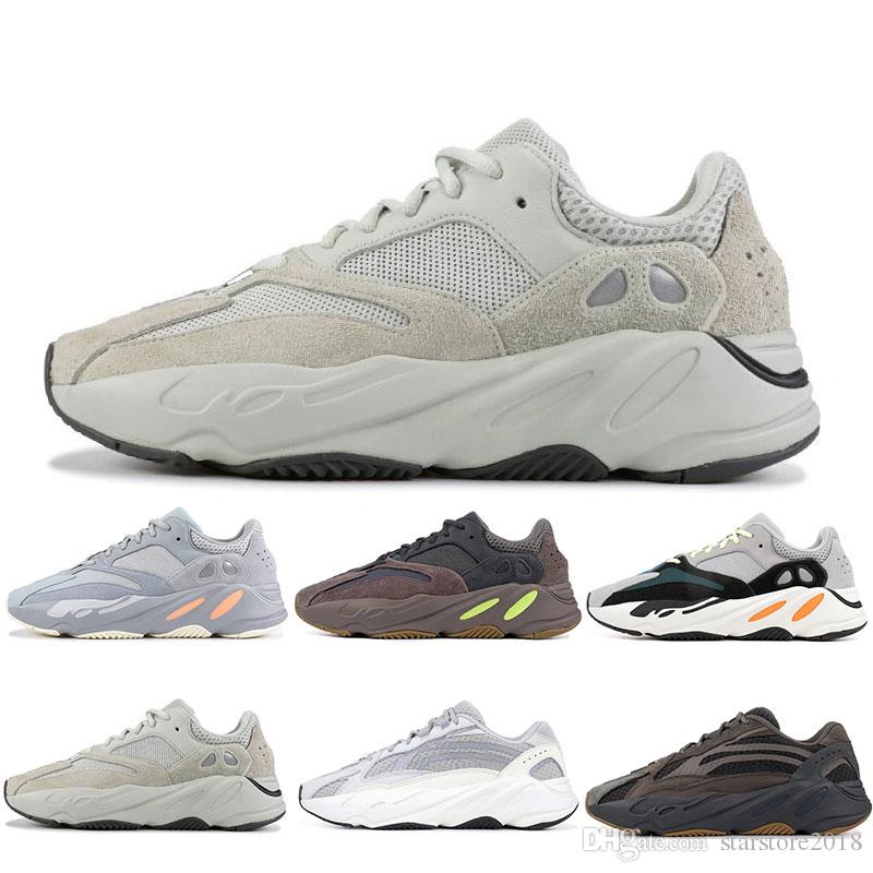 7671d5e9de998 2019 INERTIA 700 Kanye West Wave Runner Static 3M Reflective Mauve Solid  Grey Sports Running Shoes Men Women Sports Sneaker Shoes Size 36 46 From ...
