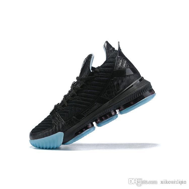 sneakers for cheap 16ffe 9d4fe Mens lebron 16 basketball shoes SuperBron Black Glow in dark Red Blue Gold  White Green youth kids cheap new lebrons sneakers boots with box