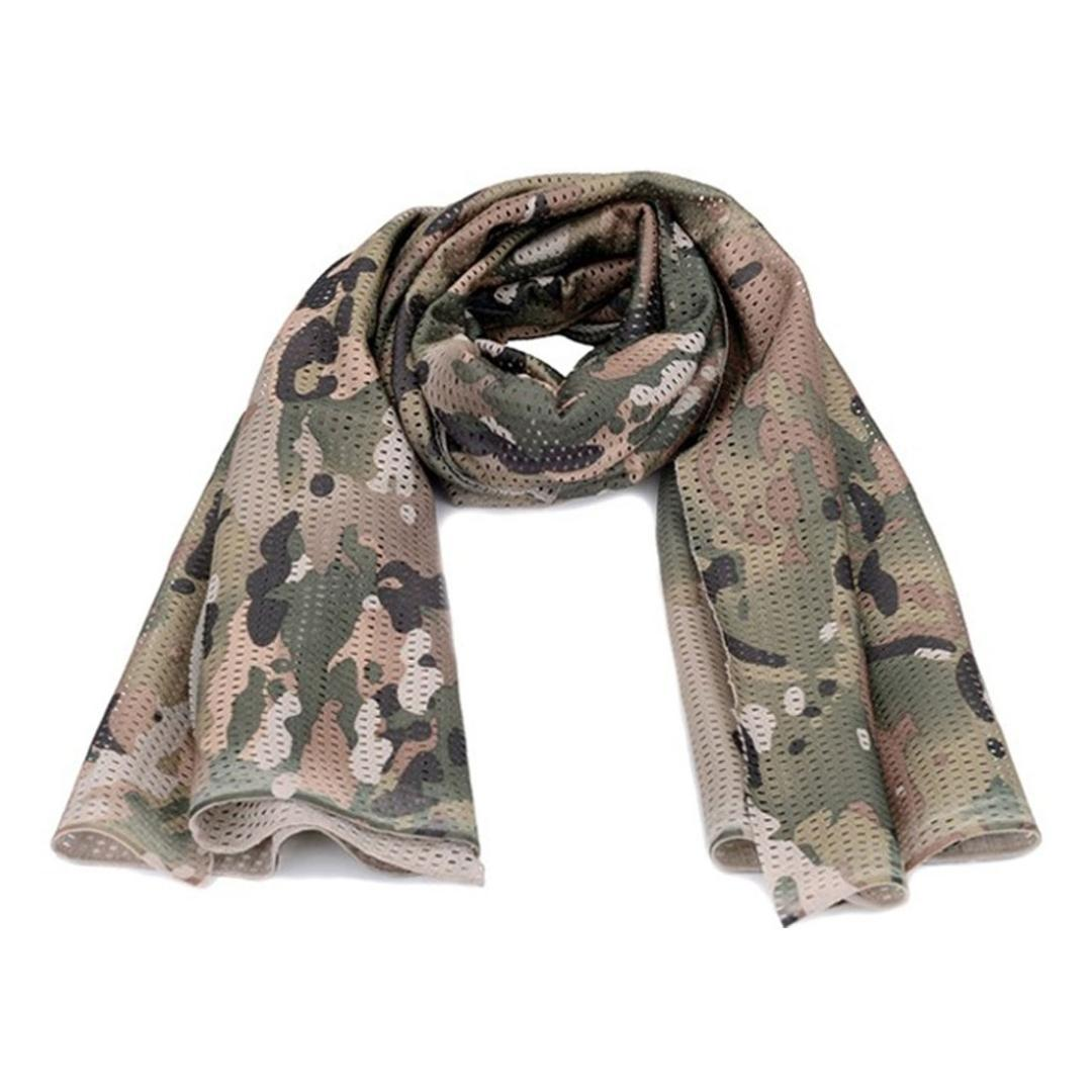 Tactical Camouflage Scarf Mesh Outdoor Breathable Headband Mesh Scarf Outdoor Jungle Muffler Camping bisiklet bandana