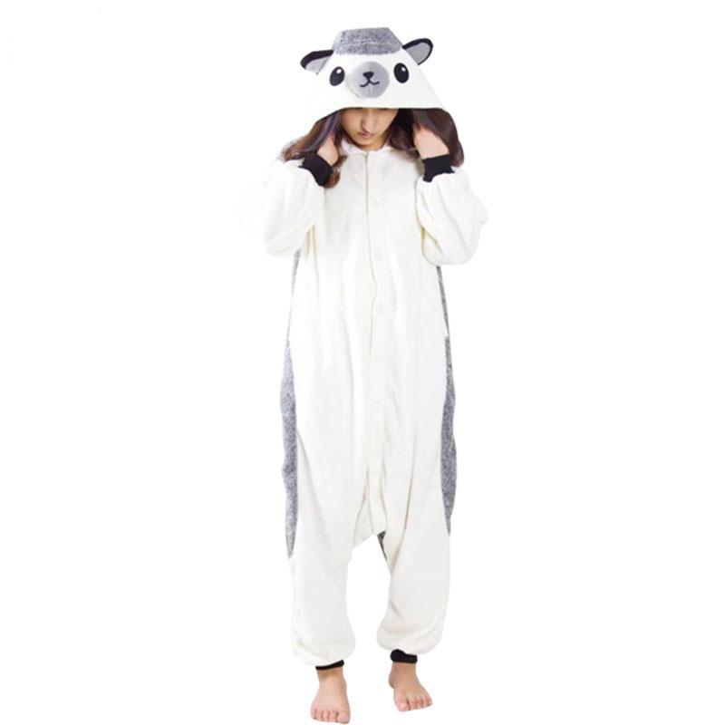 a61aa037cad1 2019 Lovable Hedgehog Onesie Cartoon Animal Kigurumi Warm Women Pajamas  Adult Bodysuit Sleepwear For Winter Halloween Costume From Home5